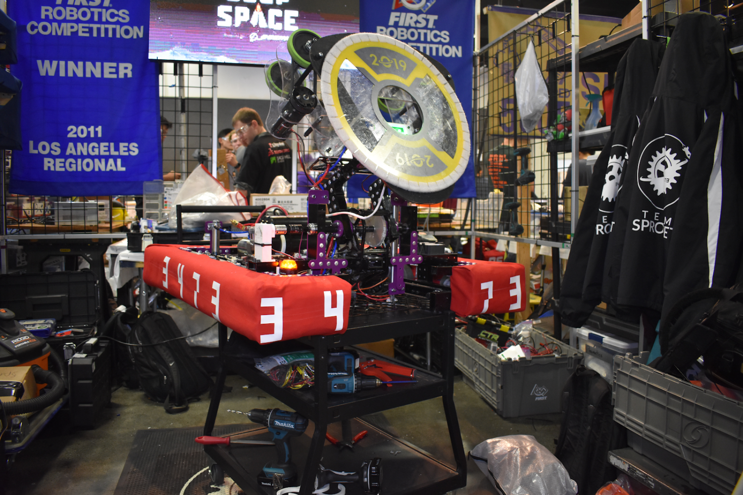 Photo courtesy of THEBLUEALLIANCE.COM  DBHS's Team Sprocket attended Orange County Regionals on Mar. 1-2 with a robot constructed by its members.