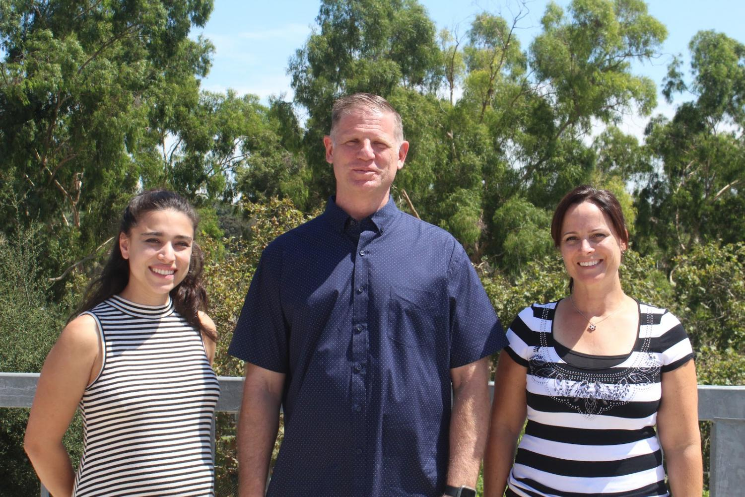 Among the seven new staff members starting their first year at DBHS are, from left, Autistic Spectrum Disorder Intermediate teacher Tiffany Brito, Chemistry Through Forensics teacher Kenneth Carlson and school psychologist Inger Turner.