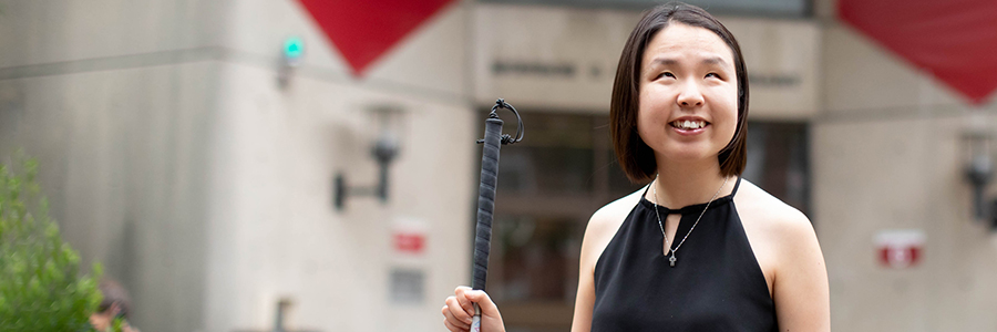 Miso Kwak is a Harvard Graduate School of Education student who published a student publication on disability with other students. Rose Lincoln/Harvard Staff Photographer
