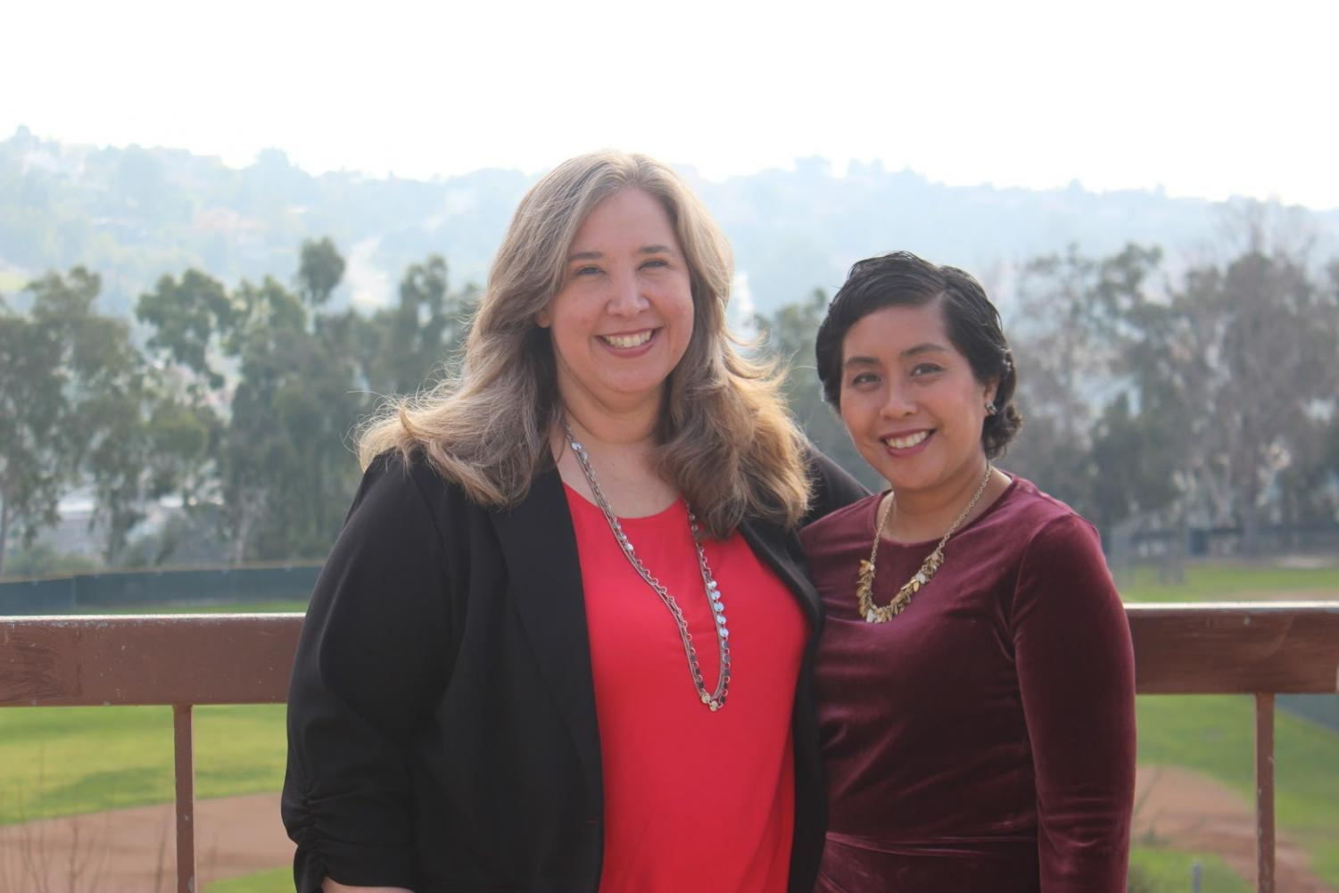 Carrie Yee, left, and Rhoda Dizon assumed the roles of recently retired Brahmas.