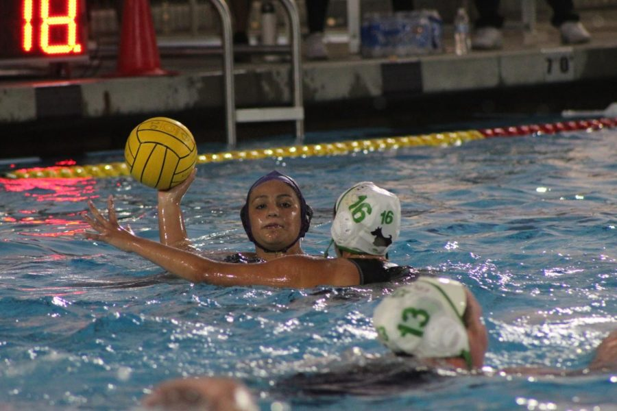 Senior Kaylee Robles handles the ball in round one of CIF; which the Brahmas won 7-5 against Upland.