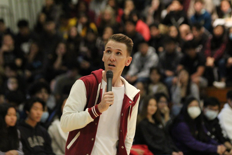 Guest speaker Scott Backovich spoke at a rally held on Jan. 28.
