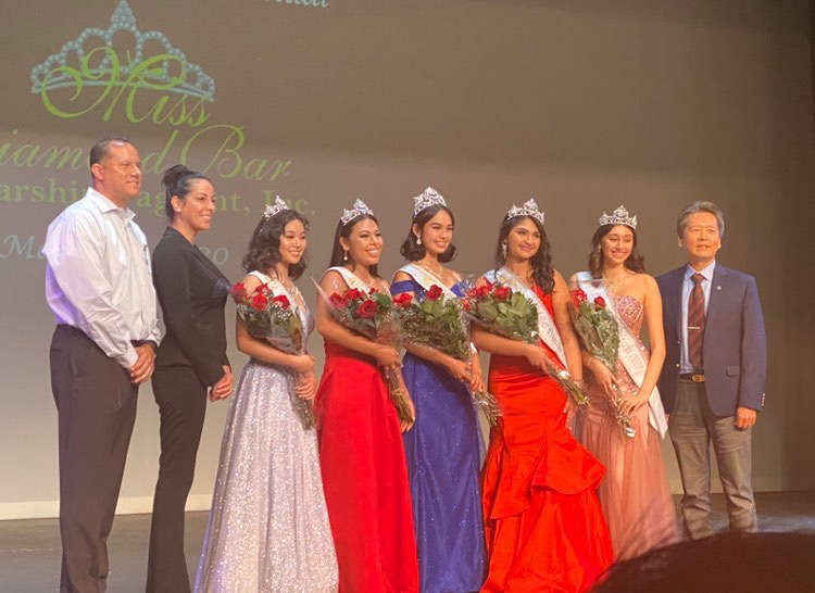 The final contestants, from left, were Crystal Tsao, Kyra Saldana, Julia Ruelas, Suhanee Malhotra and Annelise Hurtado.