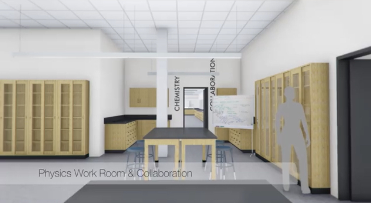 The school provided a virtual tour of the new science building on social media.