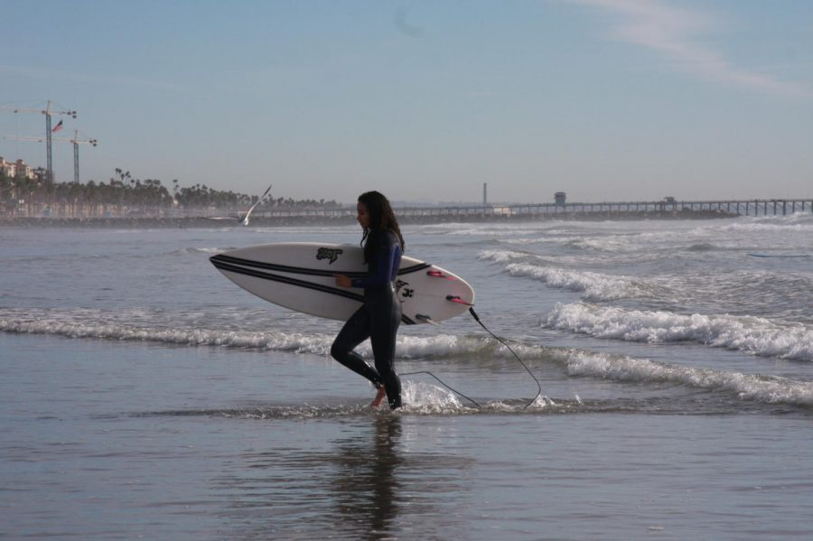 Athlete achieves peace by surfing