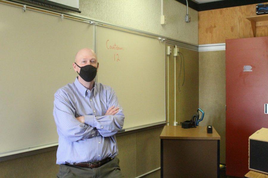 Doug List served as adviser for school publication The Bull's Eye for 10 years.