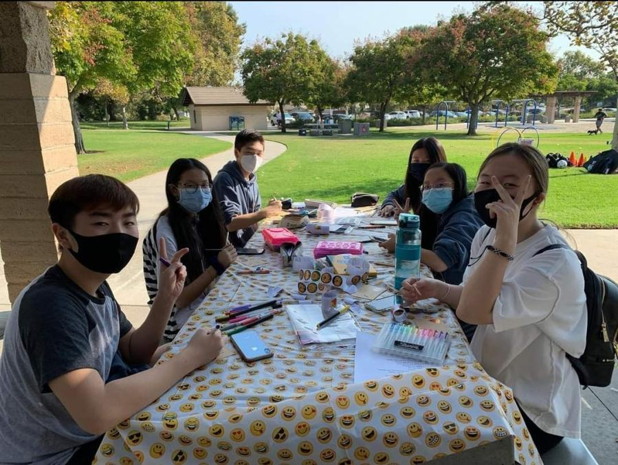 DBHS' Sunshine Club hosted a volunteer event last October where club members packaged Halloween goodie bags for pediatric patients.