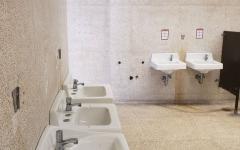 Soap dispensers remain stolen despite staffs' unsuccessful attempts at restoration.